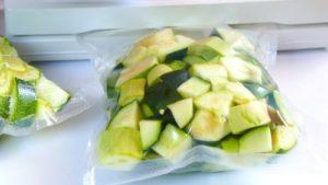 conservazione sottovuoto zucchine